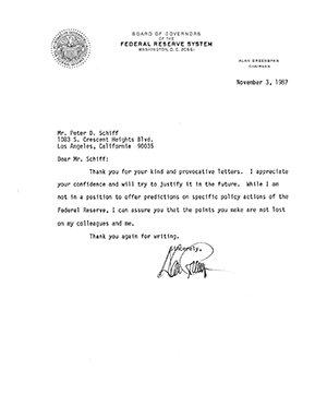 November Greenspan Letter