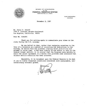 Greenspan December Letter